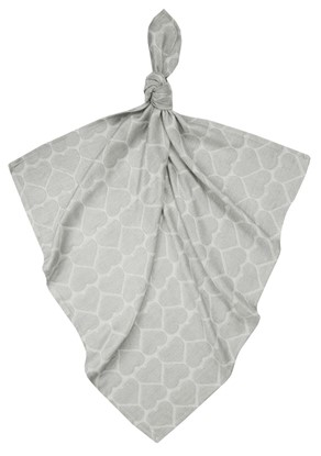 Picture of Children swaddle blanket 100% bamboo - Grey hearts