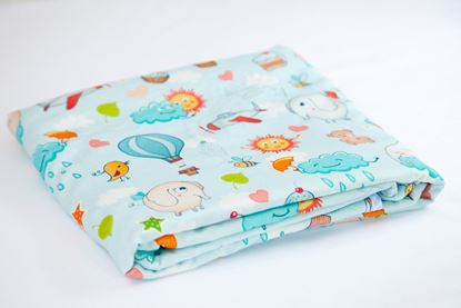 Picture of Bamboo minky blanket  - Clouds Elephants  100 x 80cm