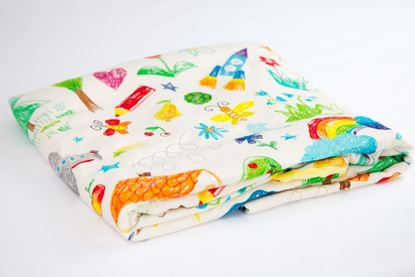 Picture of Bamboo minky blanket - Kids drawing 100 x 80 cm