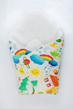 Picture of Bamboo carrier  blankets 2 in 1 - Kids drawing