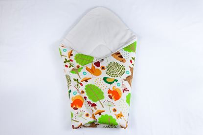 Picture of Bamboo carrier  blankets 2 in 1 -  Forest animals