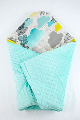 Picture of Bamboo carrier  blankets 2 in 1 - Clouds + minky