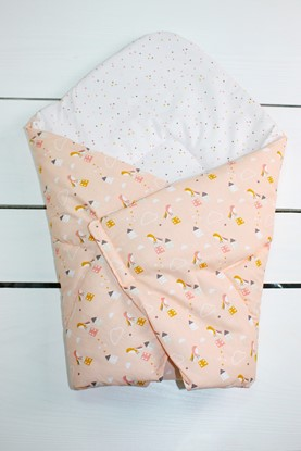 Picture of Cotton  carrier  blankets 2 in 1 - Houses and birds