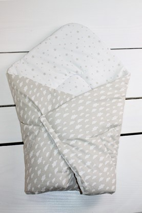 Picture of Cotton  carrier  blankets 2 in 1 - Beige clouds
