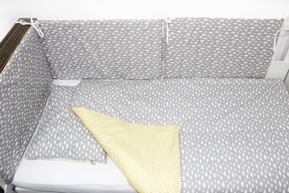 Picture of 6 pieces baby bedding  - Grey clouds