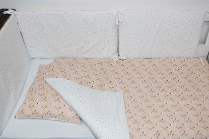 Picture of 6 pieces baby bedding  - Houses and birds