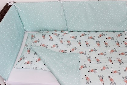Picture of 6 pieces baby bedding  - Bear on the bike