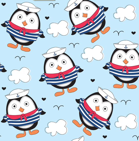 Picture of Bamboo tetra  blanket  - 100 x 100 cm - Penguins