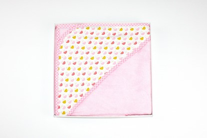 Picture of Bamboo hooded towel - Flowers 90 x 90cm