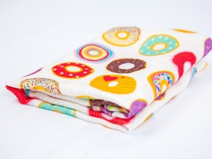 Picture of Children swaddle blanket 100% bamboo - Donuts