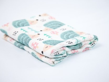 Picture of Children swaddle blanket 100% bamboo - Hedgehogs