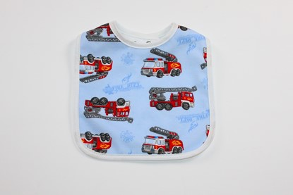 Picture of Baby bib with waterproof lining  - Firefighters