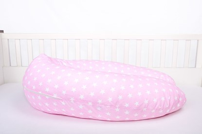 Picture of Nursing pillow cover - Pink with stars
