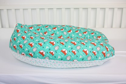 Picture of Nursing pillow cover -  Owls and foxes