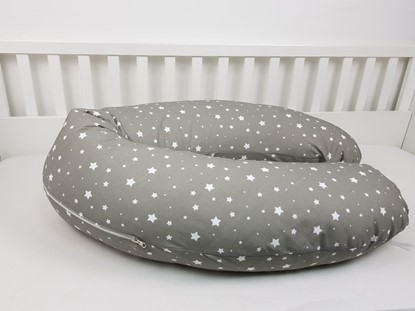 Picture of Nursing pillow cover -  White stars 2