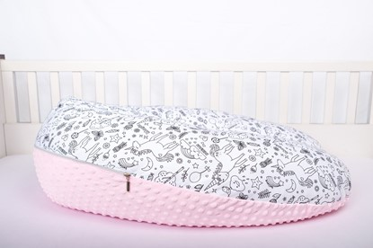 Picture of Nursing pillow cotton+minky cover -  Unicorn