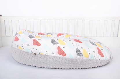 Picture of Nursing pillow cotton+minky cover -  Clouds