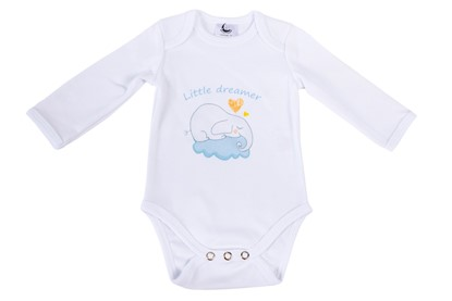 Picture of Baby body long sleeves organic cotton - Little dreamer