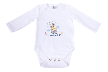 Picture of Baby body long sleeves organic cotton - More than all the stars