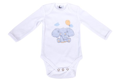 Picture of Baby body - long sleeve  - Elephant with the big ears