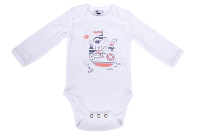 Picture of Baby body - long sleeve  - Sailor teddy