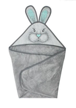 Picture of Bamboo hooded towel - Grey bunny  90x90cm