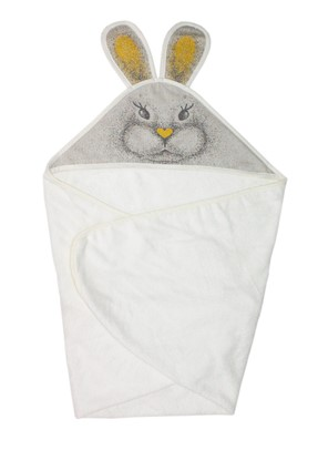 Picture of Bamboo hooded towel - Beige bunny  90x90cm