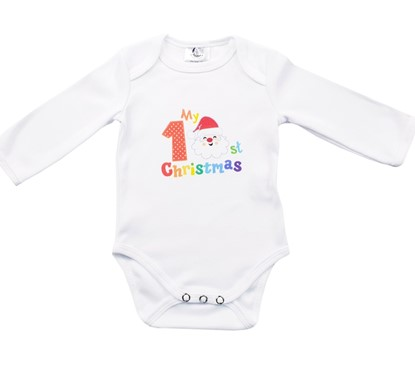 Picture of Baby body long sleeve - First Christmas