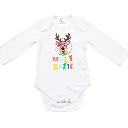 Picture of Baby body long sleeve - Moj prvi Božić