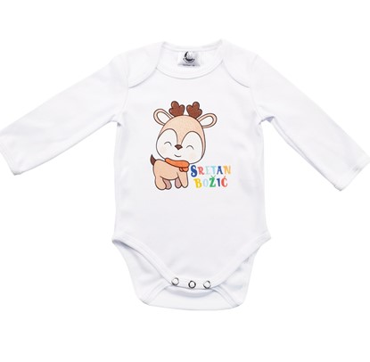 Picture of Baby body long sleeve - Sretan Božić