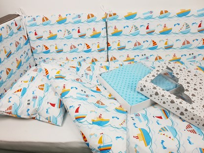 Picture of 7 pieces baby bedding  - Ships
