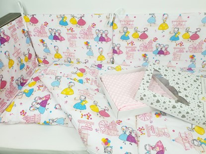 Picture of 7 pieces baby bedding  - Princess