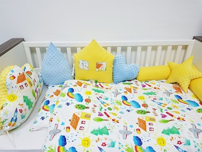 Picture of 2 pieces baby bedding  -  100% CV Bamboo - Kids drawing