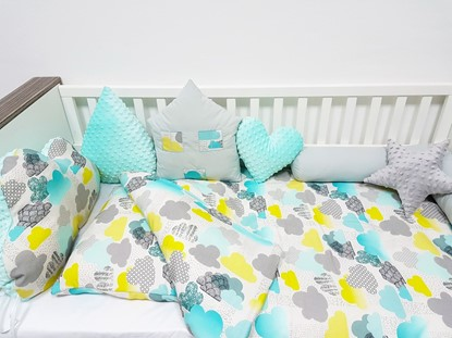 Picture of 2 pieces baby bedding  -  100% CV Bamboo - Clouds