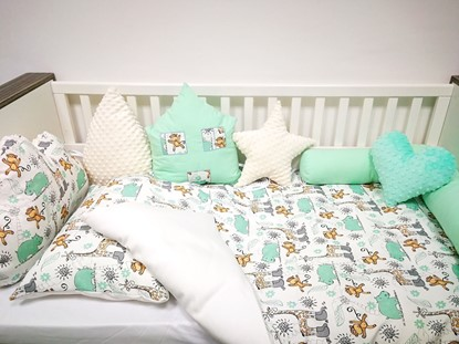 Picture of 2 pieces baby bedding  -  100% CV Bamboo - Giraffes