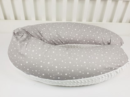 Picture of Nursing pillow cotton+minky - White stars