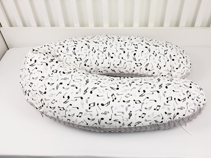 Picture of Nursing pillow cotton+minky - Musical notes