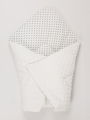Picture of Cotton  carrier  blankets 2 in 1 -  Grey stars