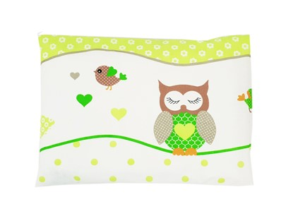 Picture of Pillow and cover for pillow  - Owls green