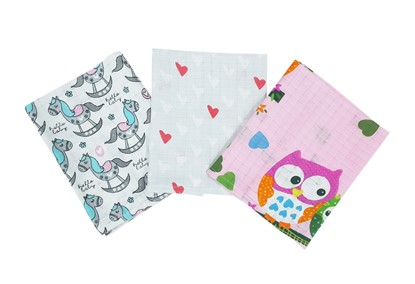 Picture of Cotton tetra wash clothes  - Set 3/1 for girls