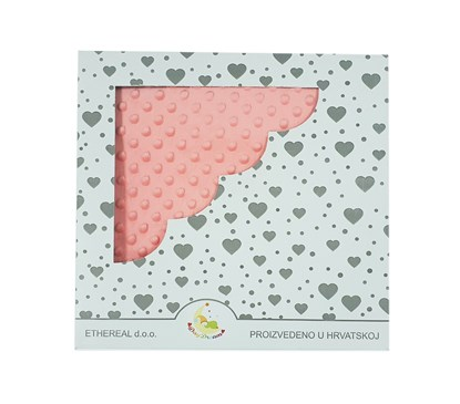 Picture of Minky blanket - Peach 100x80