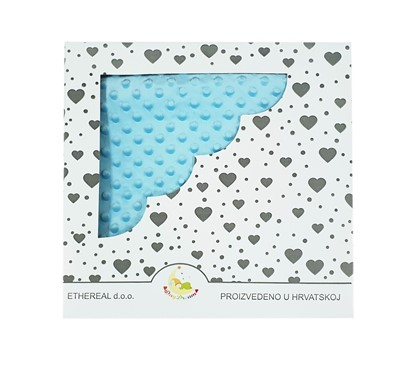 Picture of Minky blanket - Azure Blue 100x80