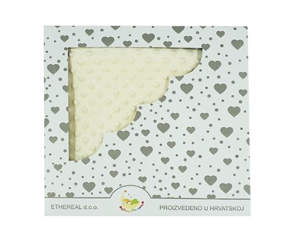 Picture of Minky blanket - Ivory 100x80