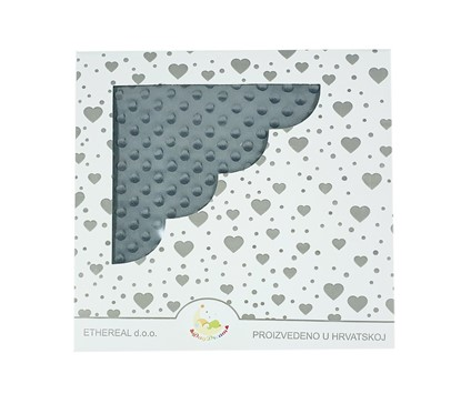 Picture of Minky blanket -  Dark grey 120x100