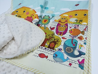 Picture of Premium cotton minky blanket 100x80  - Happy frogs