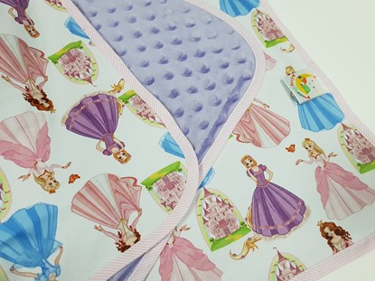 Picture of Premium cotton minky blanket 100x80 - Princesses