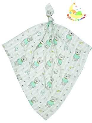 Picture of Children swaddle blanket 100% bamboo - Teddy with the green shirt