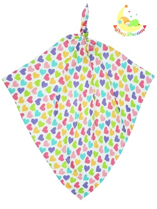 Picture of Bamboo tetra  blanket  - 100 x 100 cm - Hearts