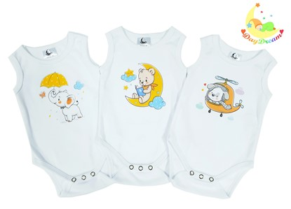 Picture of Baby body set 3/1 - no sleeves - Neutral
