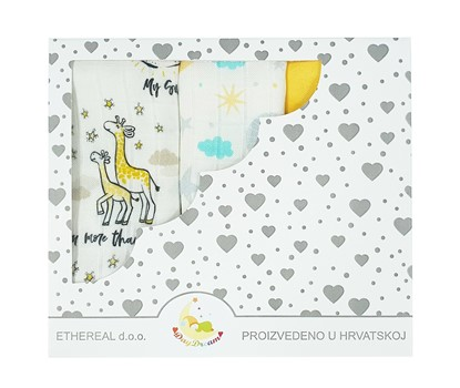 Picture of Children swaddle blanket 100% bamboo, 3pcs set - Love you more than all the stars
